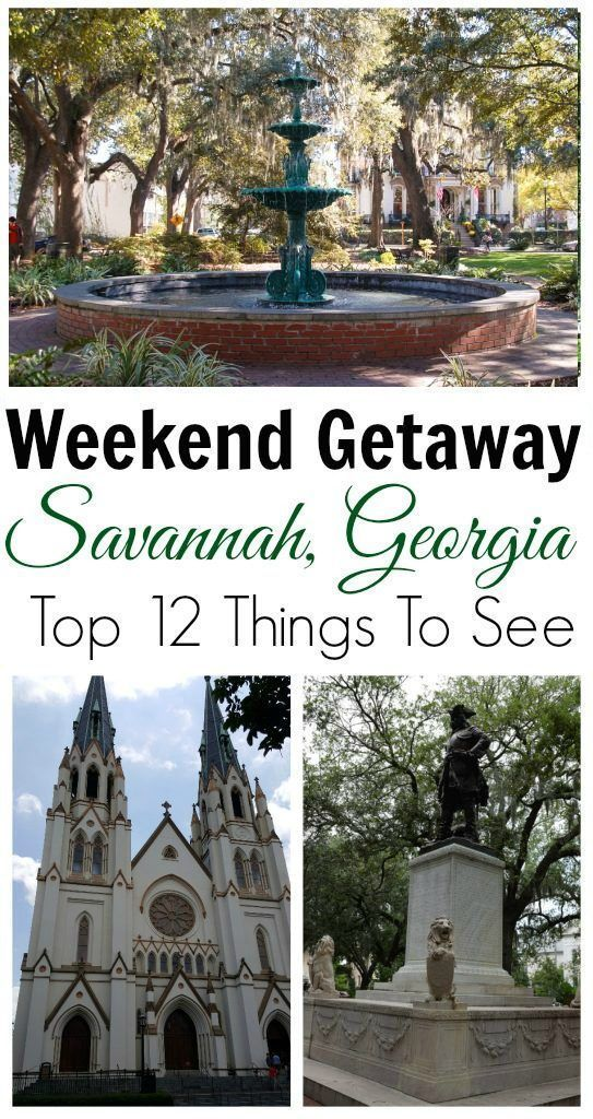 Things to do in Savannah for a weekend getaway #TravelDestinationsUsaWeekendGetaways