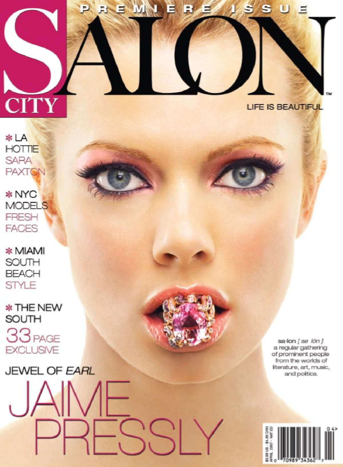 Jaime Pressly..SALON CITY MAGAZINE COVER APRIL 2007 Pink
