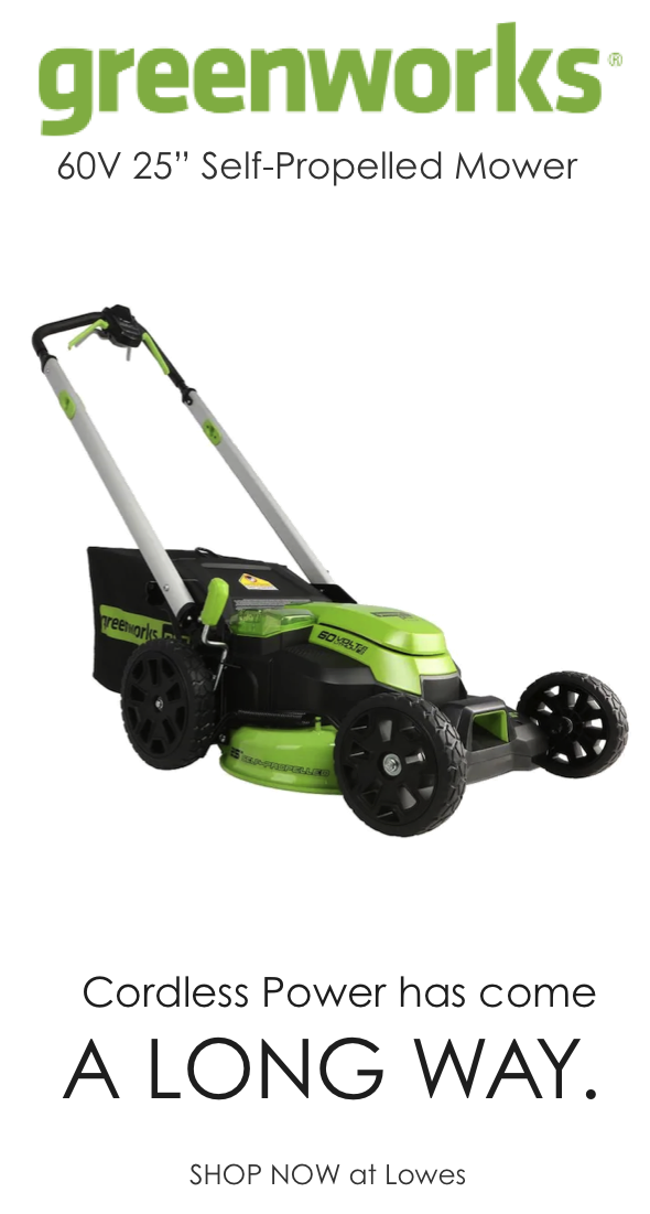 Greenworks Pro 60 Volt Brushless Lithium Ion Self Propelled 25 In Cordless Electric Lawn Mower Lowes Com In 2020 Self Propelled Mower Lawn Mower Greenworks