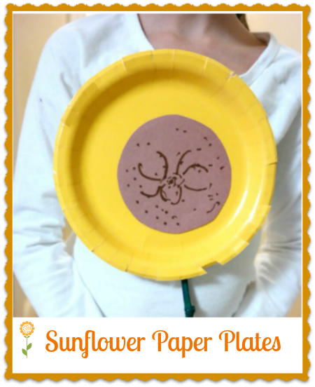 Kid\u0027s Craft Project Sunflower Paper Plate  sc 1 st  Pinterest & Kid\u0027s Craft Project: Sunflower Paper Plate | Kids s Sunflowers and ...