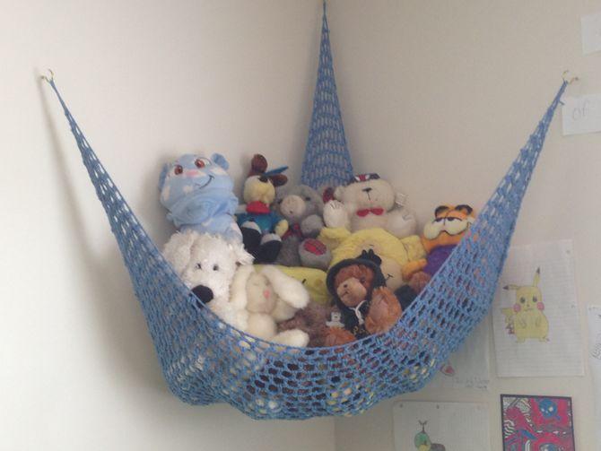 crochet a toy storage hammock crochet a toy storage hammock   toy storage storage ideas and crochet  rh   pinterest co uk