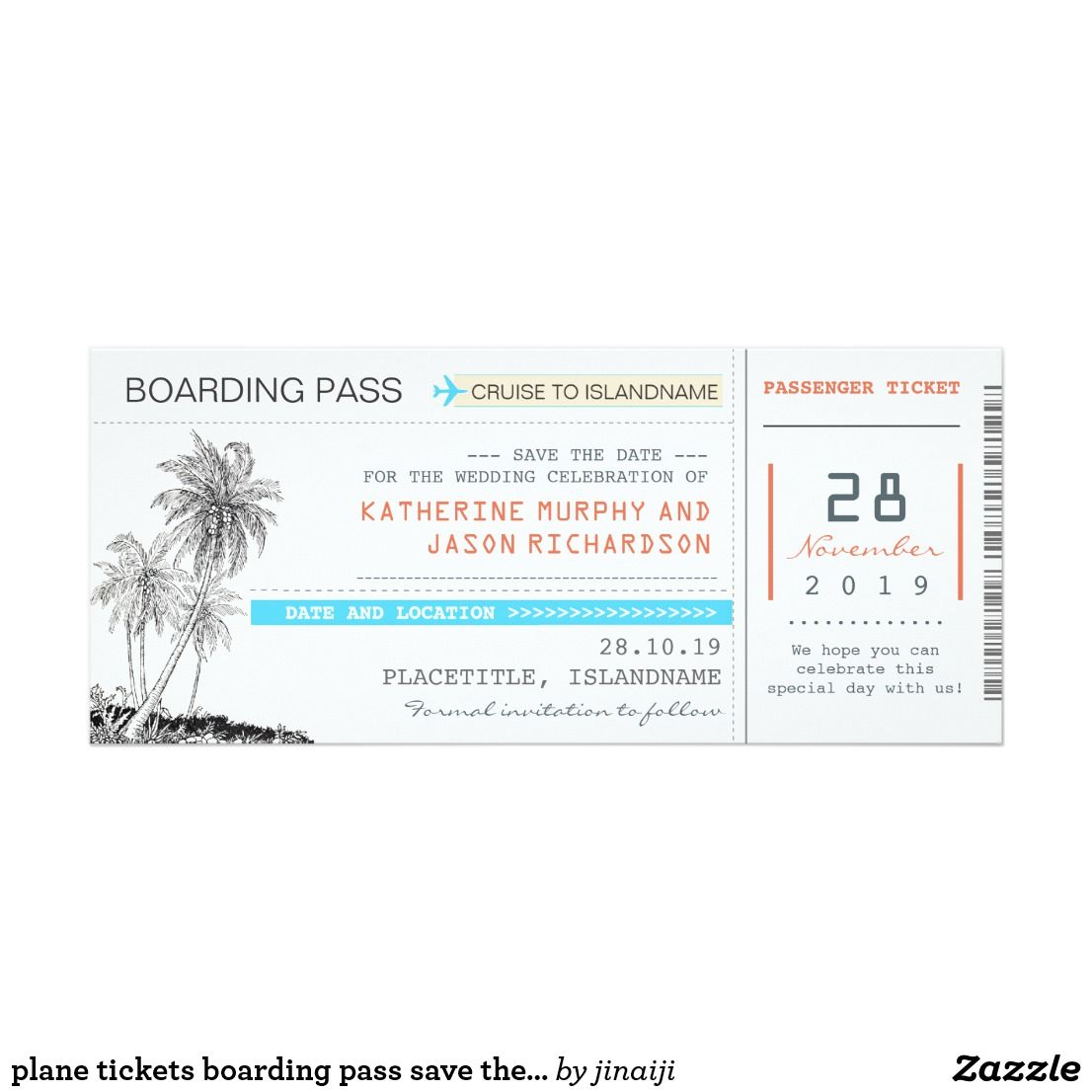 plane tickets boarding pass save the date design card modern ...