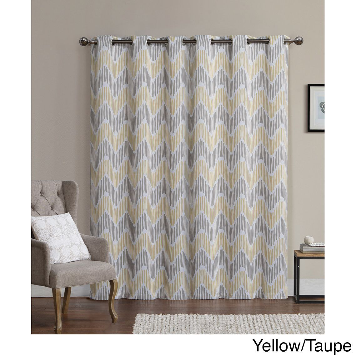 Vcny Marlie Printed 96 Inch Blackout Grommet Curtain Panel Pair