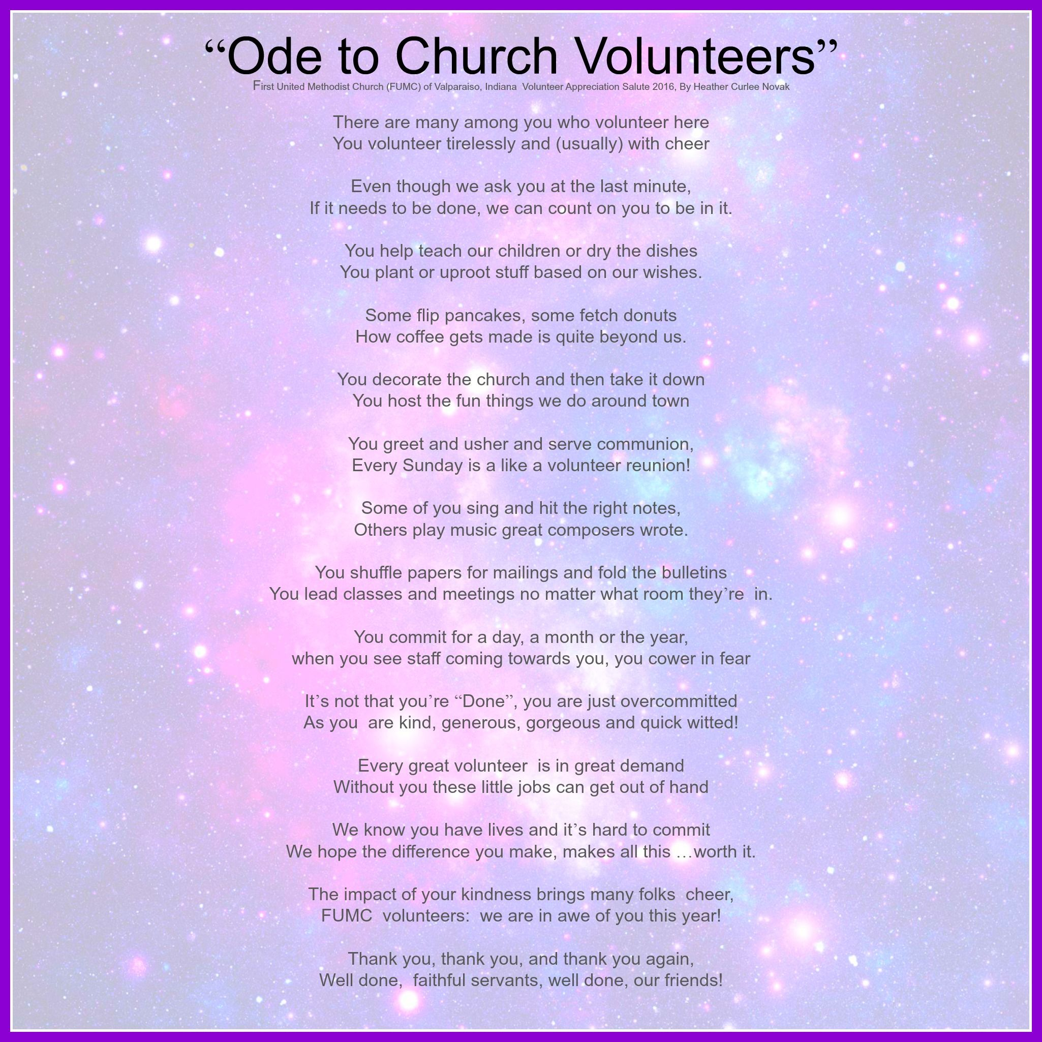 Thank-You Cards for any occasion for Church Volunteers ... |Thank You Church Volunteers