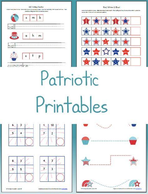 Patriotic Worksheets: Free Printable Friday | Housewife ...