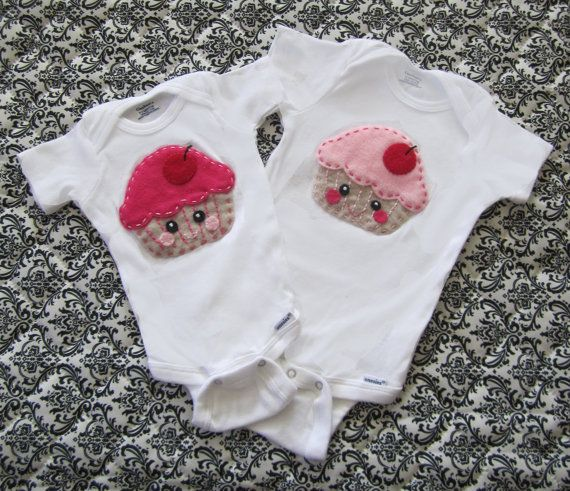 Felt Cupcake Baby Bodysuit/Onesie  Available in by TheAfricanLlama, $20.00