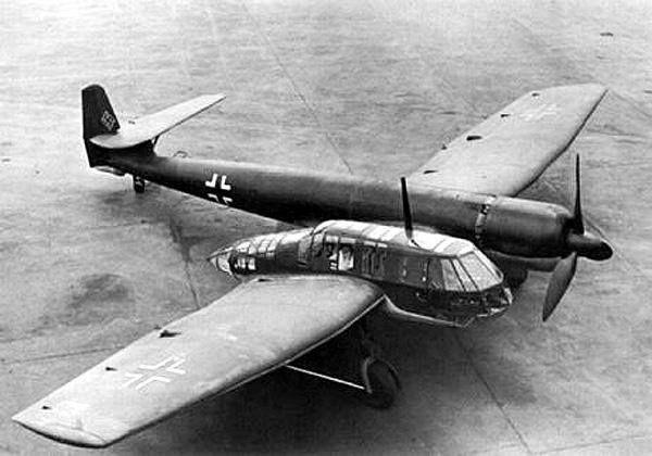German Blohm und Voss Bv 141 asymmetrical reconnaissance aircraft and light bomber, 1938