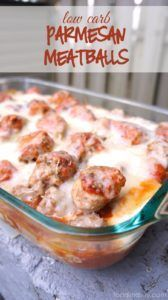 Low Carb Parmesan Meatball Casserole   - Extreme weight loss -