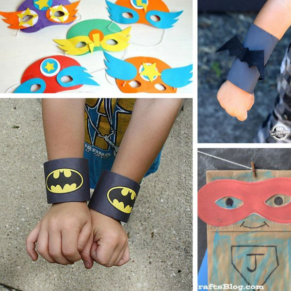 Super Cool Superhero Crafts for Boys (They Will Love To Make Them!) #superherocrafts