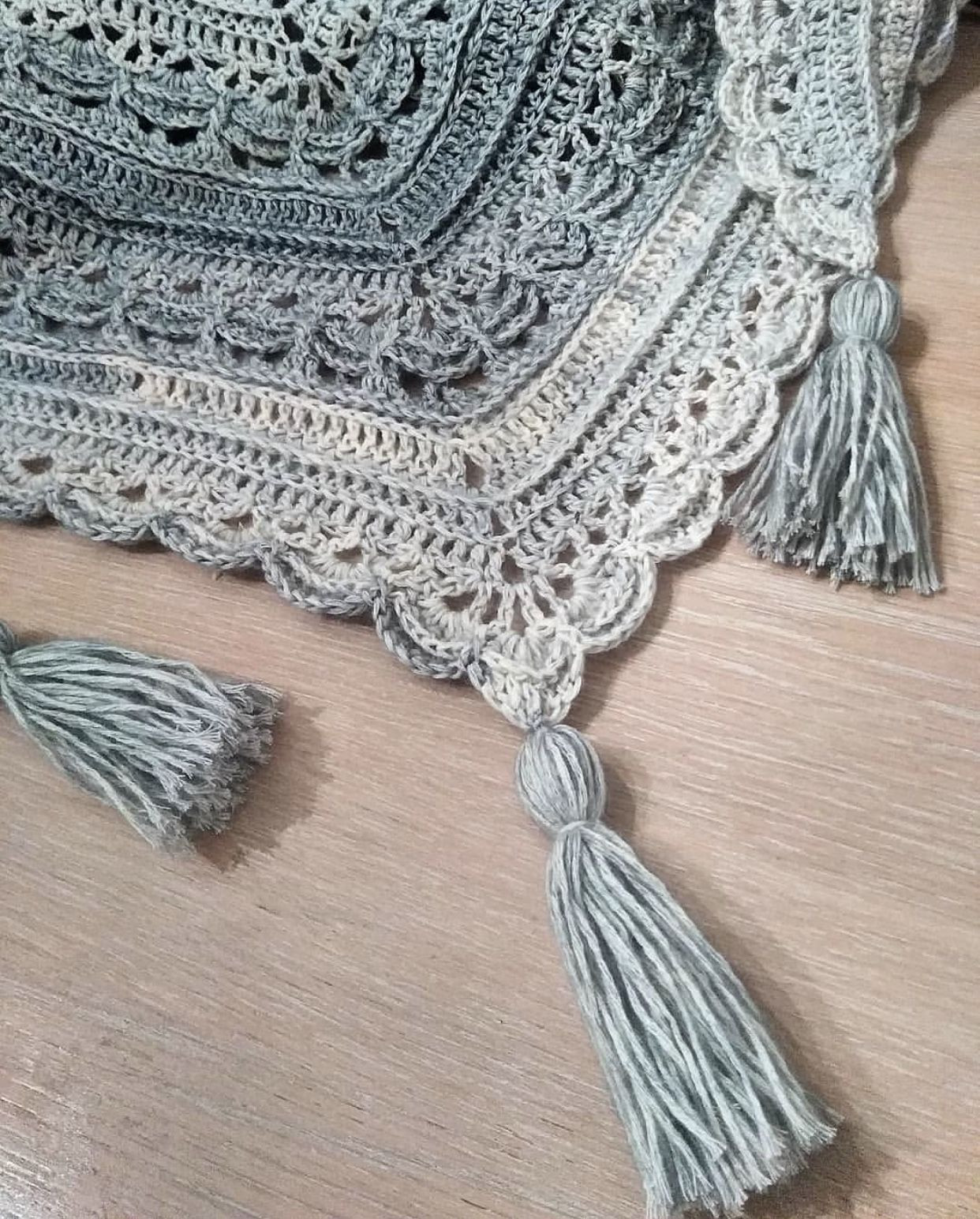 Ana Lucia Shawl - free crochet shawl pattern by Wilmade