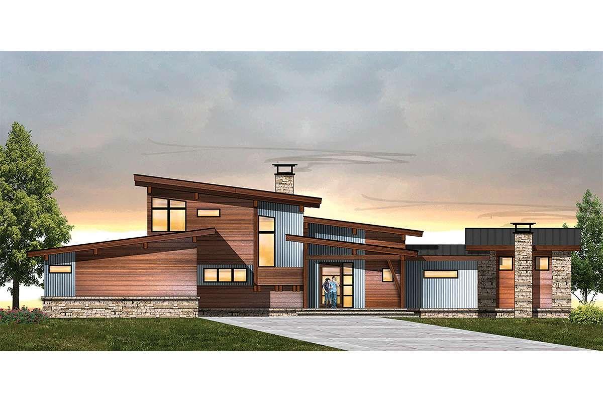 Mid Century Modern House Plan 8504