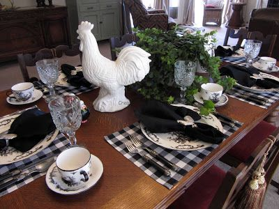 Black White And Emerald French Country Dining Dining