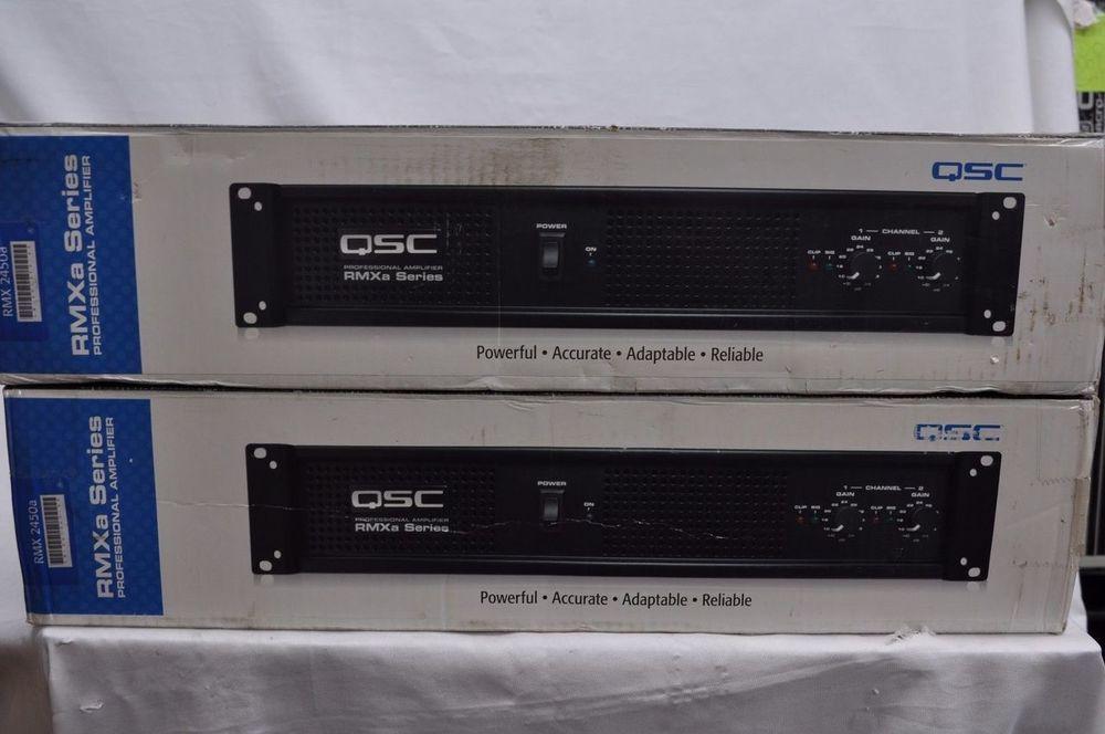 qsc rmx2450a power amplifier rmx 2450a 2400 watt one new power amplifier audio electronics. Black Bedroom Furniture Sets. Home Design Ideas