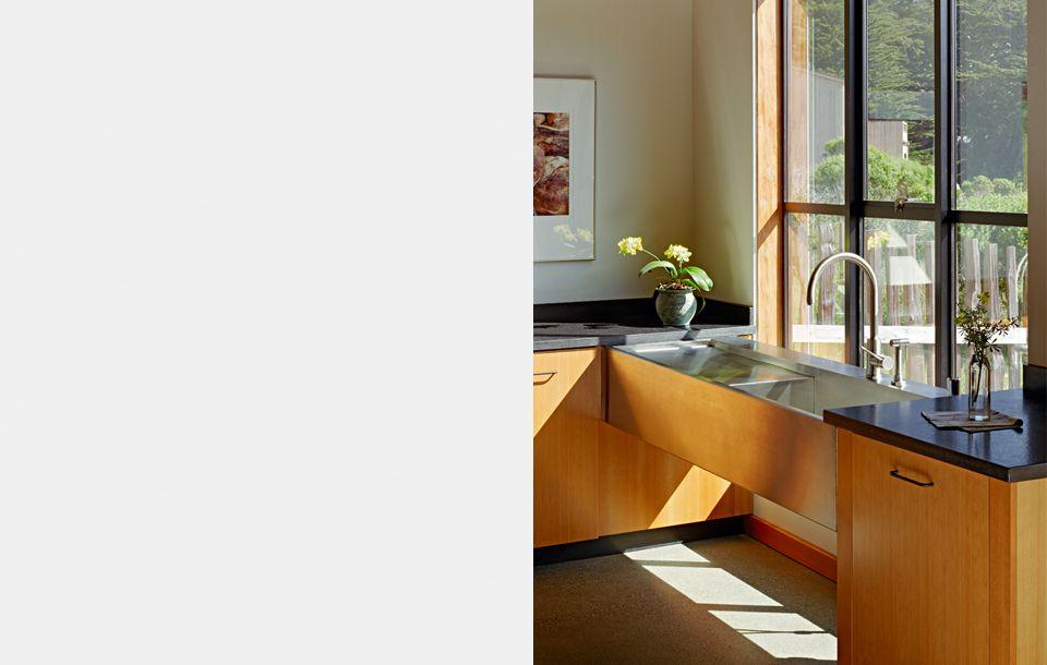 Malcolm Davis Architecture Stone Contemporary Kitchen Kitchen Sink Design Modern Kitchen Sinks