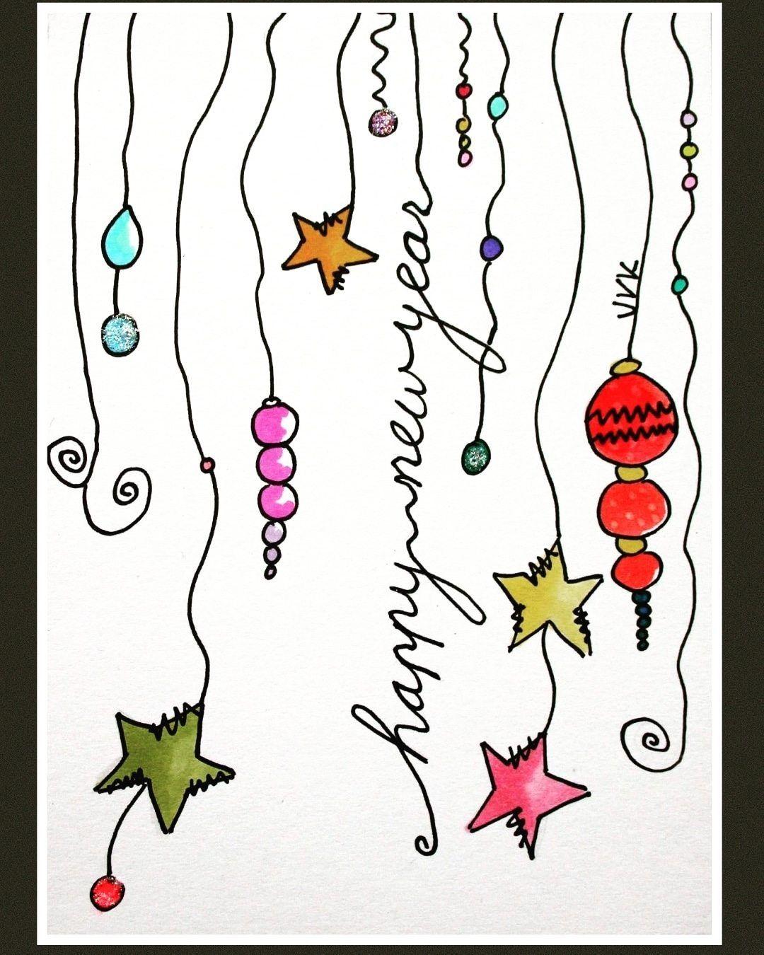 gelukkig nieuwjaar kerst kaarten handgemaakte