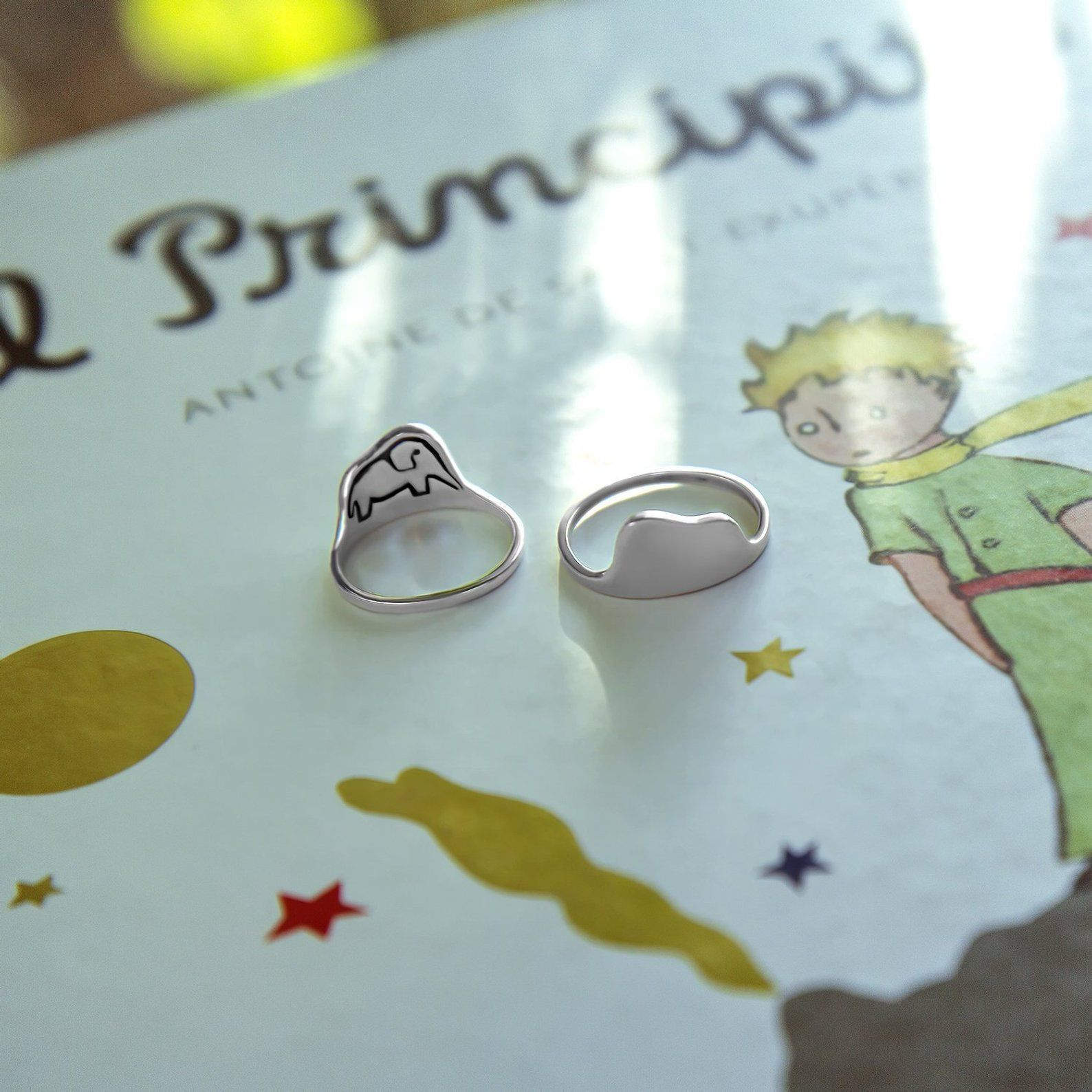 A Hat Or A Boa Ring Little Prince Ring Sterling Silver Little