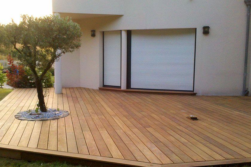 plancher bois exotique en ipe avec un olivier terrasse en bois en 2019. Black Bedroom Furniture Sets. Home Design Ideas