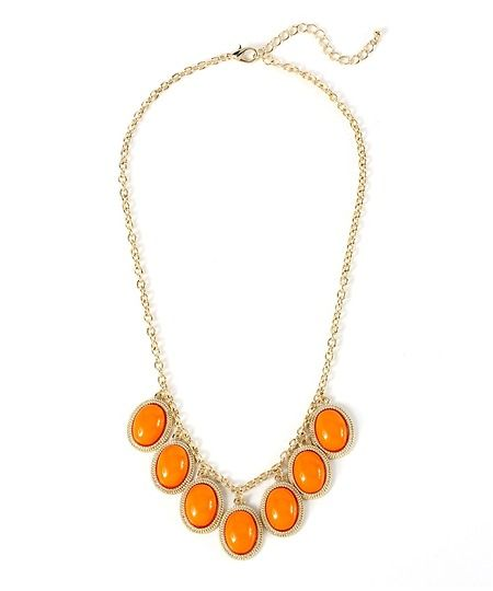 A Perfect Pop Dangle Necklace - Orange  $8.50