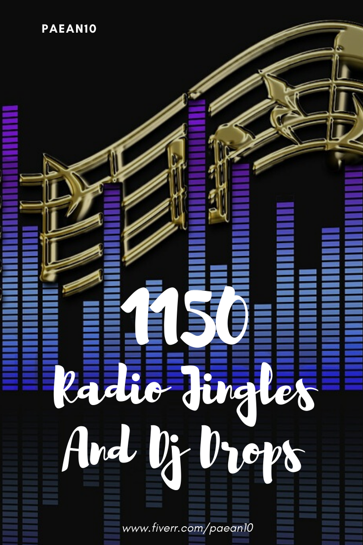 Give you 1150 dj drops and radio jingles effects