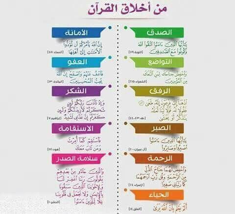 من أخلاق القرآن ...
