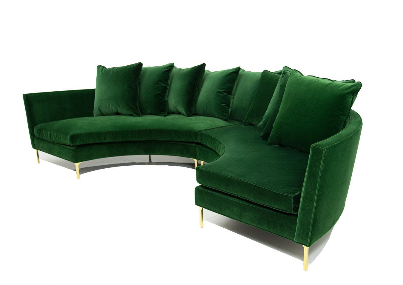 Sardinia Sectional in Emerald Velvet | Living spaces, House and Spaces