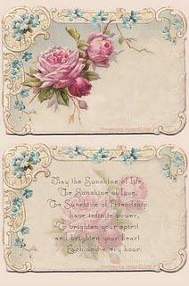 Flower Postcard And Poem Vintage Printables Vintage Paper Vintage Cards