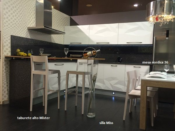 Taburete alto para cocina mostrador y barra de bar modelo - Taburete barra cocina ...