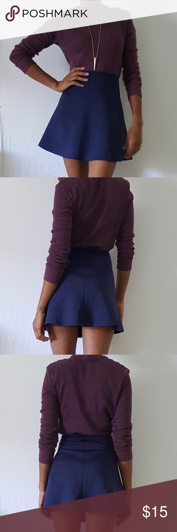 Miami skater skirt Stretchy skater skirt with zipper on the back Miam Skirts