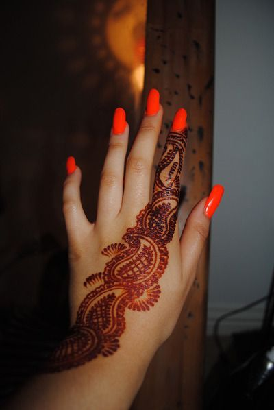 Henna Orange Nail Polish Henna Mehndi Henna Nails Henna Nails