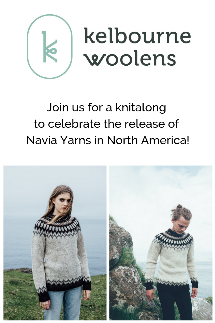 444c36a24 Join us for a knitalong of the Model 2 sweater to celebrate the release of  Navia Yarns in North America!