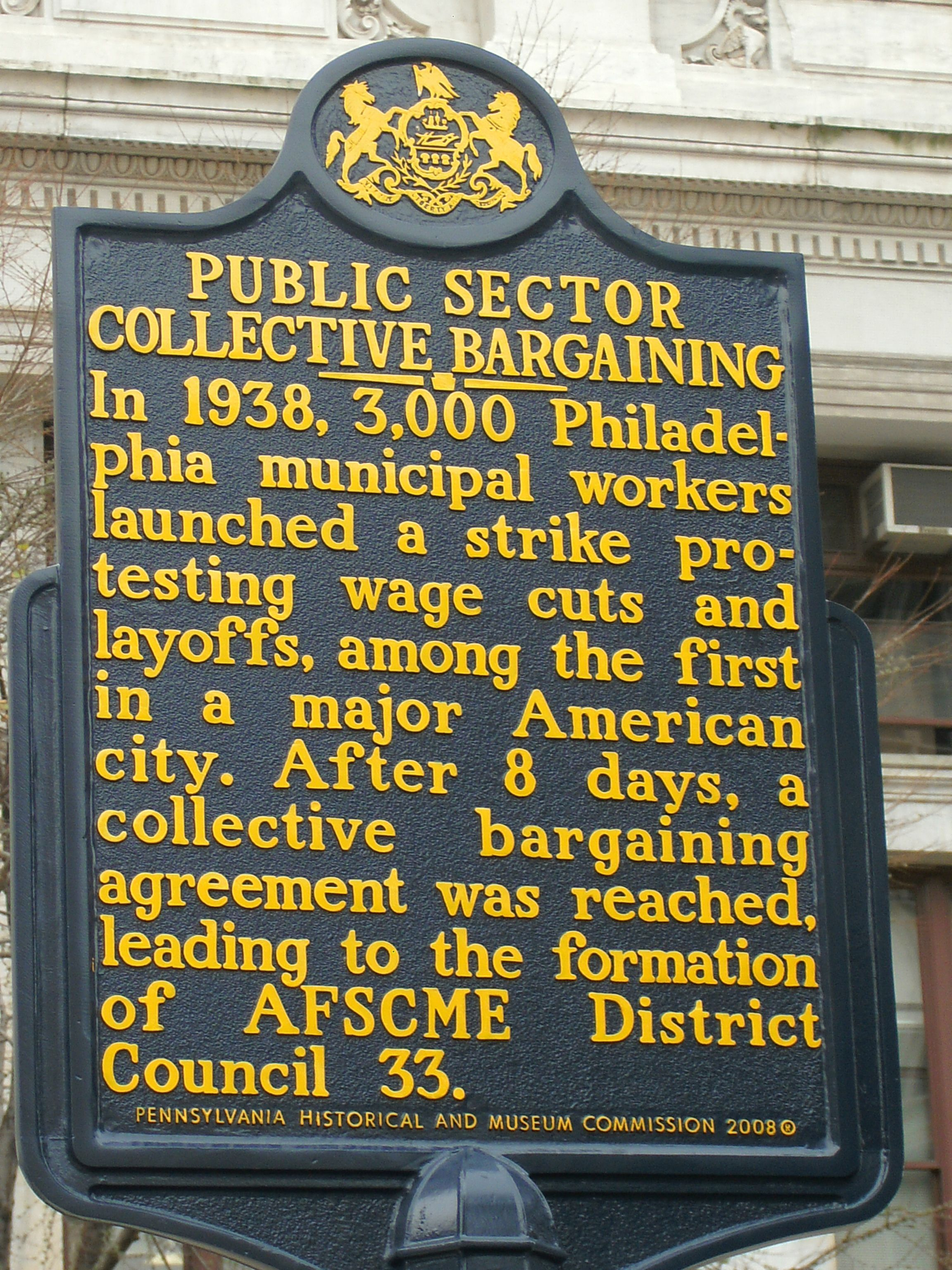 Public Sector Collective Bargaining This Marker Is Located On The