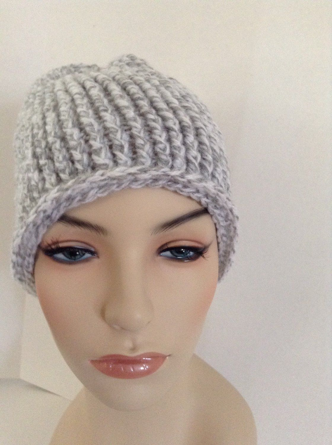 A personal favorite from my Etsy shop https://www.etsy.com/listing/258140985/hand-crocheted-beanie-hat-gray-tweed