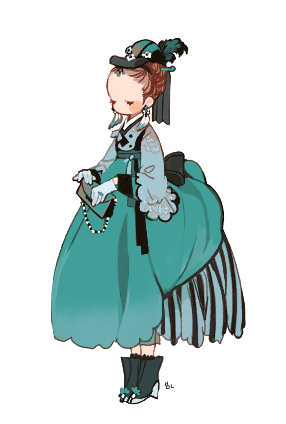 Hanbok illustration  | 한복 Hanbok : Korean traditional clothes[dress] - RocoA
