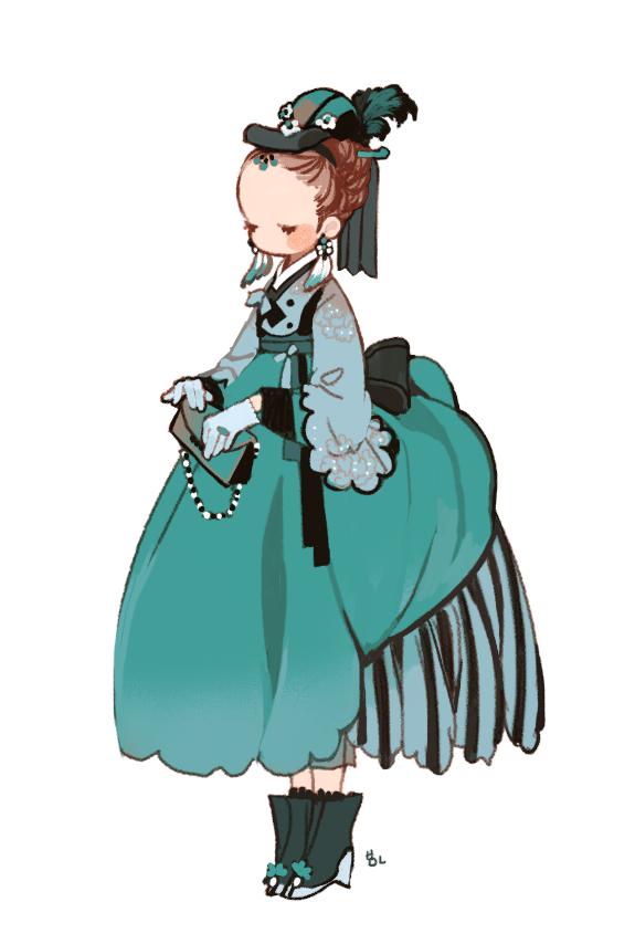 Hanbok illustration  | 한복 Hanbok : Korean traditional clothes[dress] - RocoA
