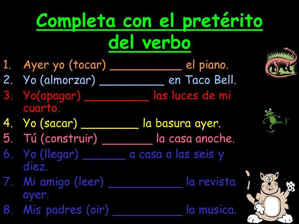 Cambios Ortograficos Preterito Ejercicio Spanish Verbs Spanish Classroom Learning Spanish
