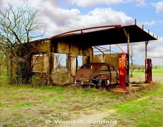 Old Gas Station: