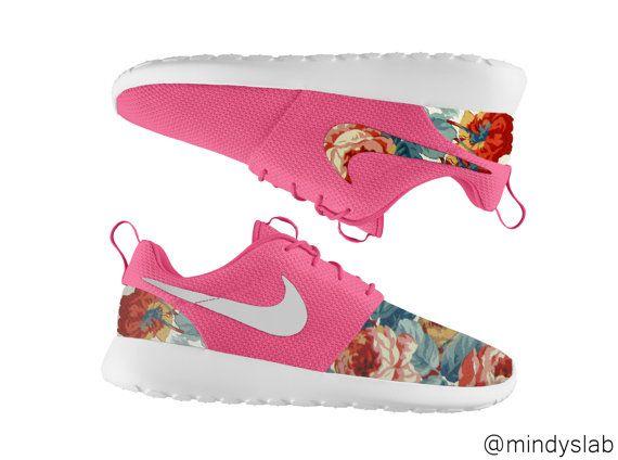 nike roshe pink floral