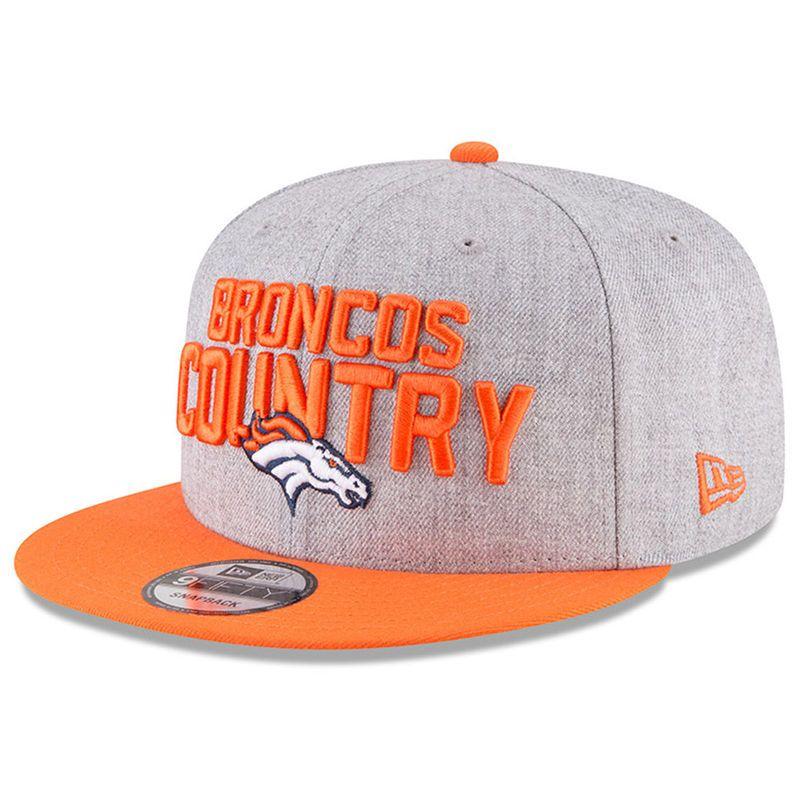 wholesale dealer 6206a f59b9 Denver Broncos New Era Youth 2018 NFL Draft Official On-Stage 9FIFTY  Snapback Adjustable Hat – Heather Gray Orange