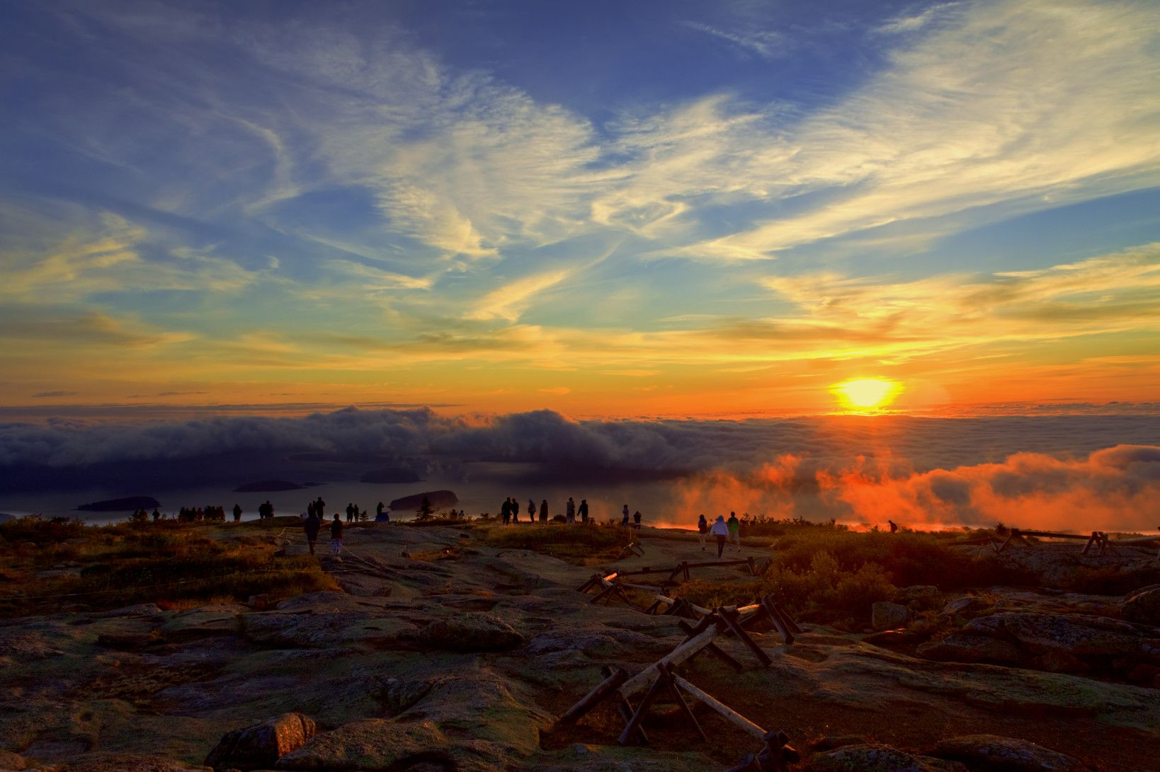 mountain sunset and sunrises Cadillac Mountain Sunrise