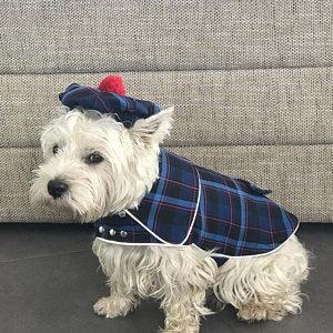 Tweed Dog Coat And Cap Set Scottish Dog Coat Westie Tartan Etsy Tartan Dog Westie Dogs Westie Puppies