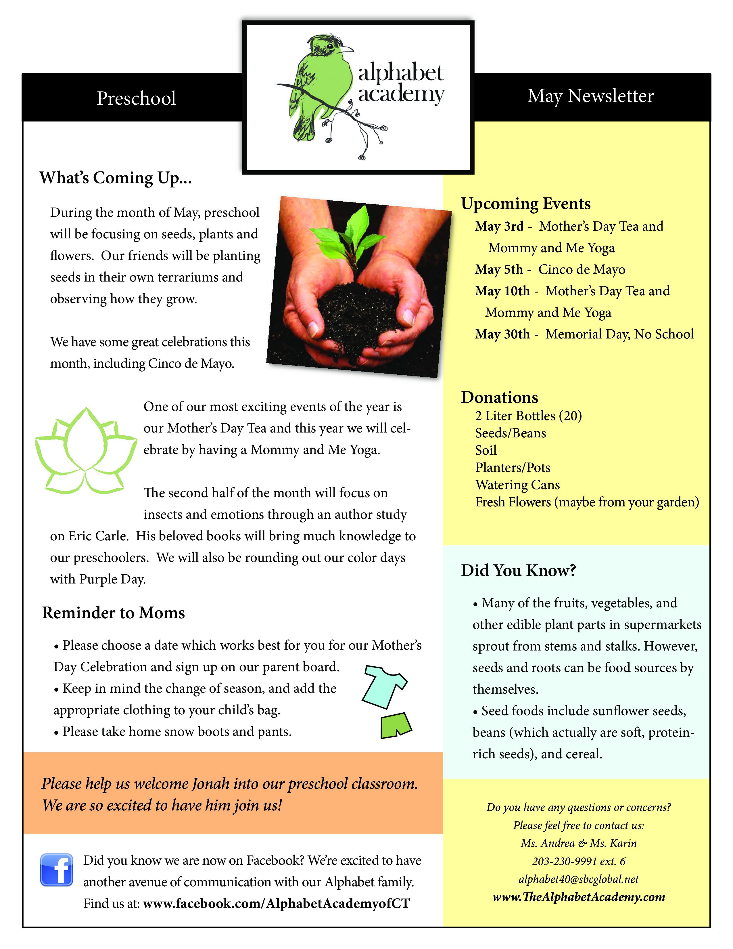 Preschool Newsletter Samples Preschool Newsletter Samplespdf