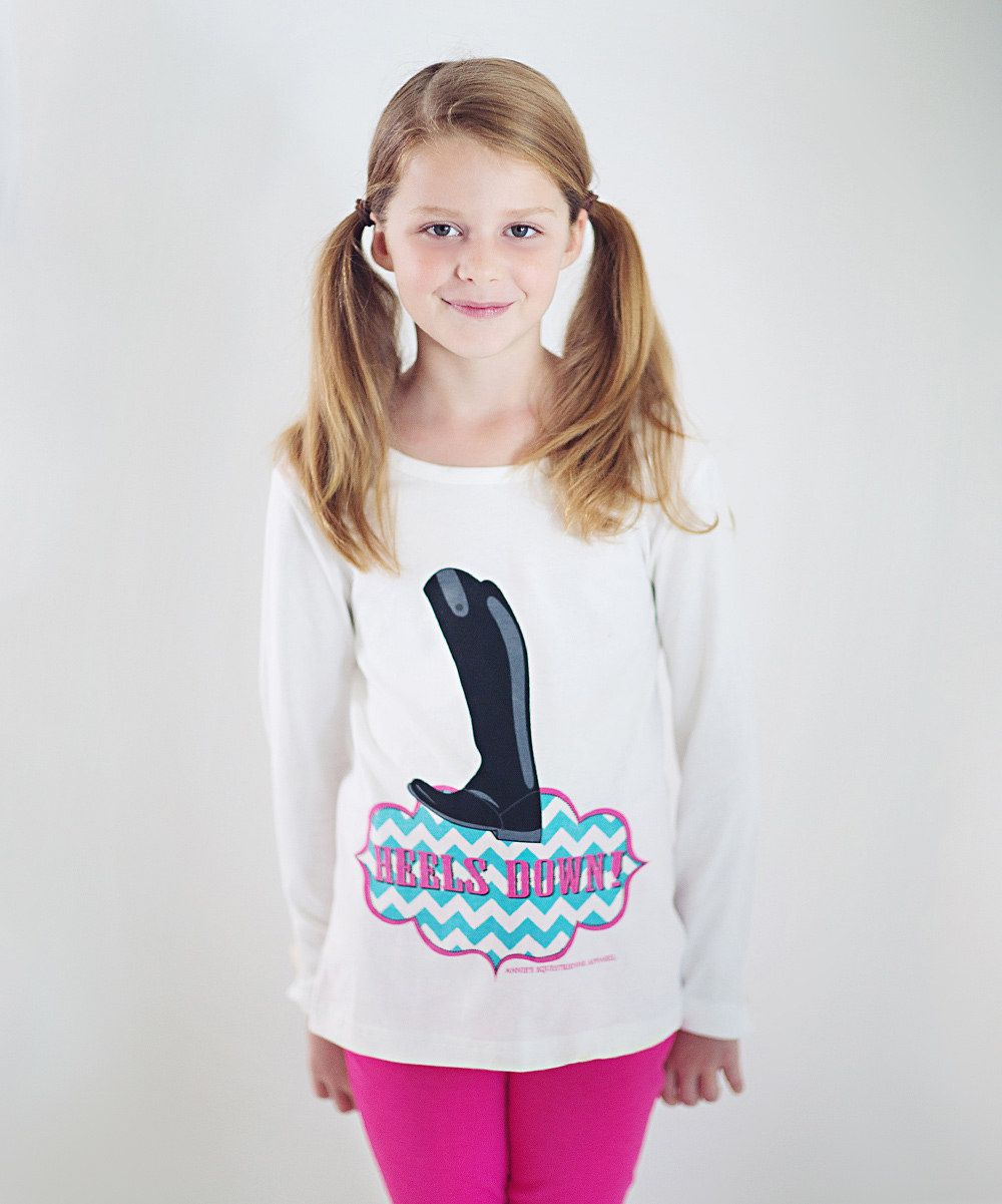 Look at this White 'Heels Down Tee' Tee Girls on zulily
