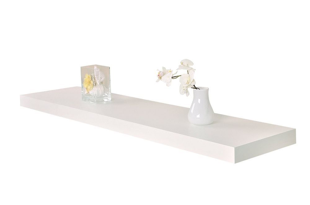 Welland 36 Inch X 12 Inch X 2 Inch Houston Floating Shelf White 36 Ebay Floating Shelves Bathroom Wall Shelf Display Floating Wall Shelves