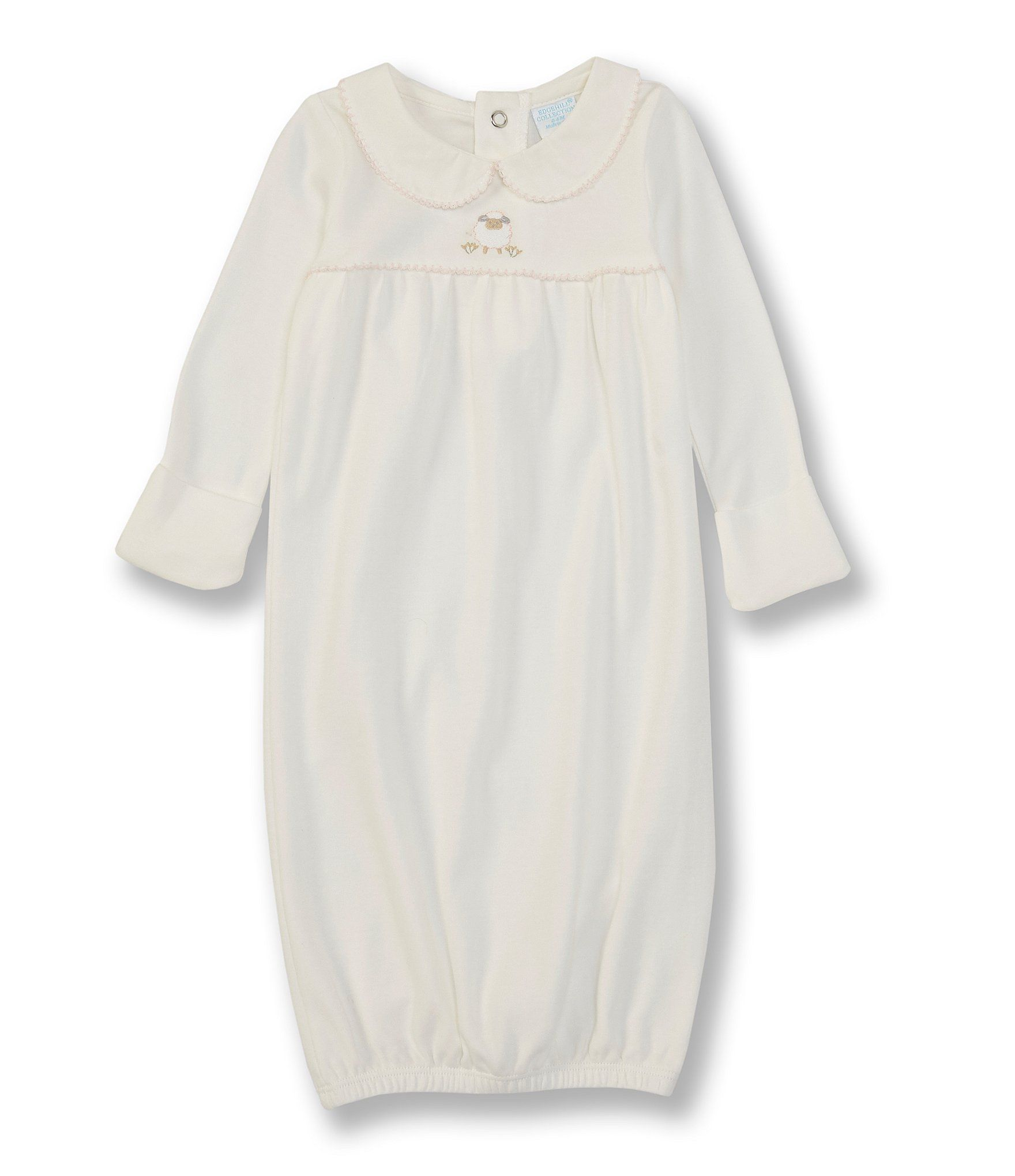 Edgehill Collection Baby Girls Newborn-6 Months Long-Sleeve Sheep Embroidered Gown -  0/6 Months