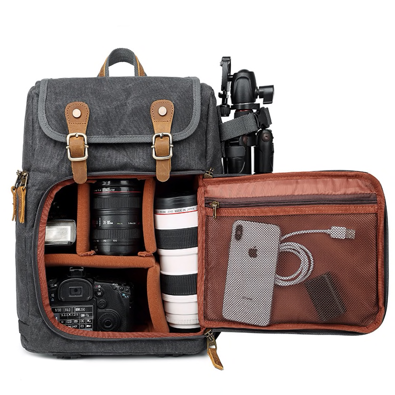 Wanderer Camera Backpack Photo Squad Studios Fast Side Camera Access Waxed Canvas Leather Camera Bac Camera Storage Camera Backpack Backpack Photography