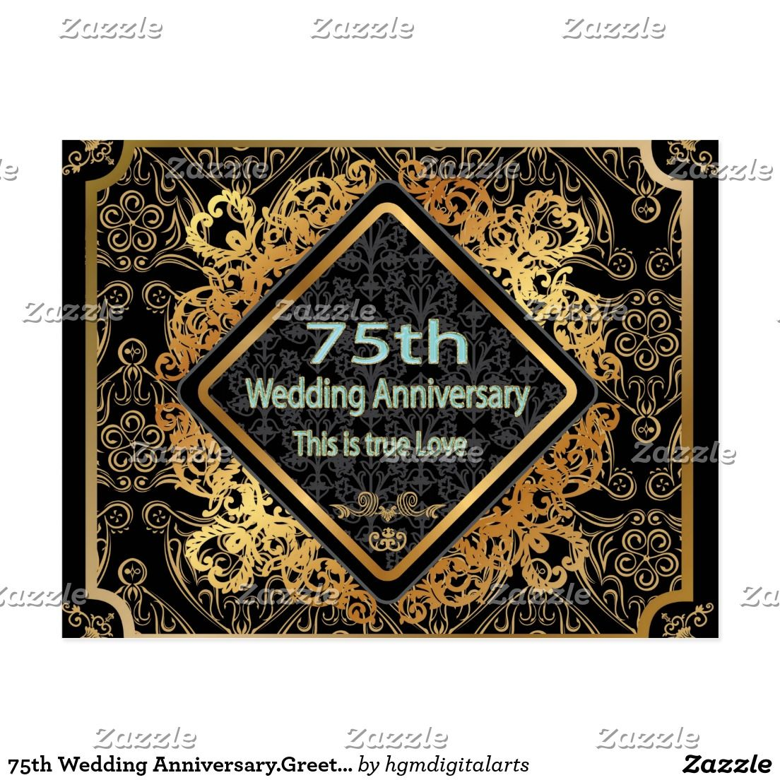 75th Wedding Anniversary Greeting Cards