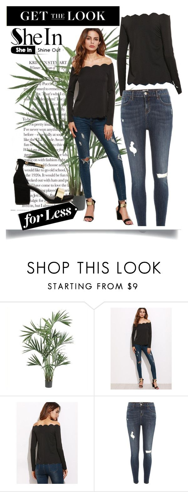"""""""scallop top"""" by madcar-2013 ❤ liked on Polyvore featuring Nearly Natural and River Island"""