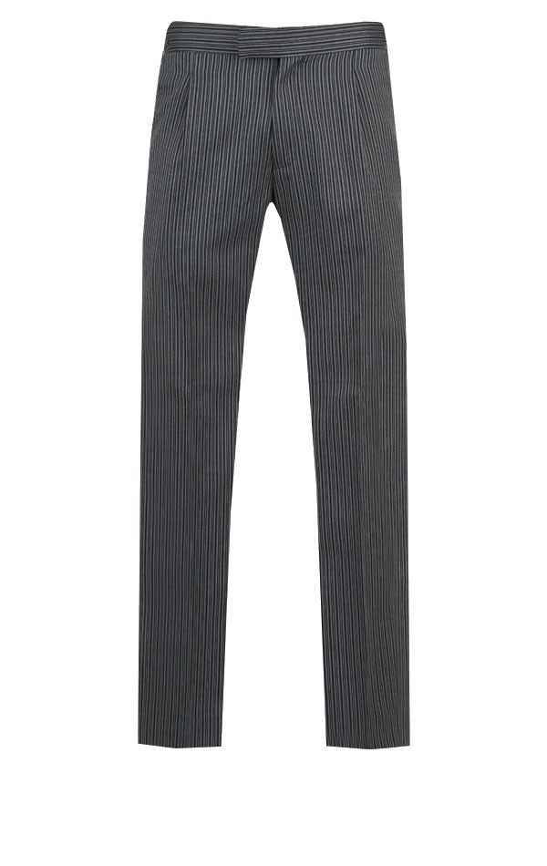 f64e555ac2fc Black Herringbone Morning Suit with Striped Trousers | Wedding Suit ...