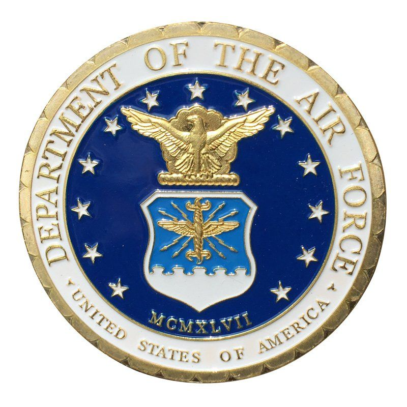 U.S. Air Force/USAF Security Forces Police Gold Plated