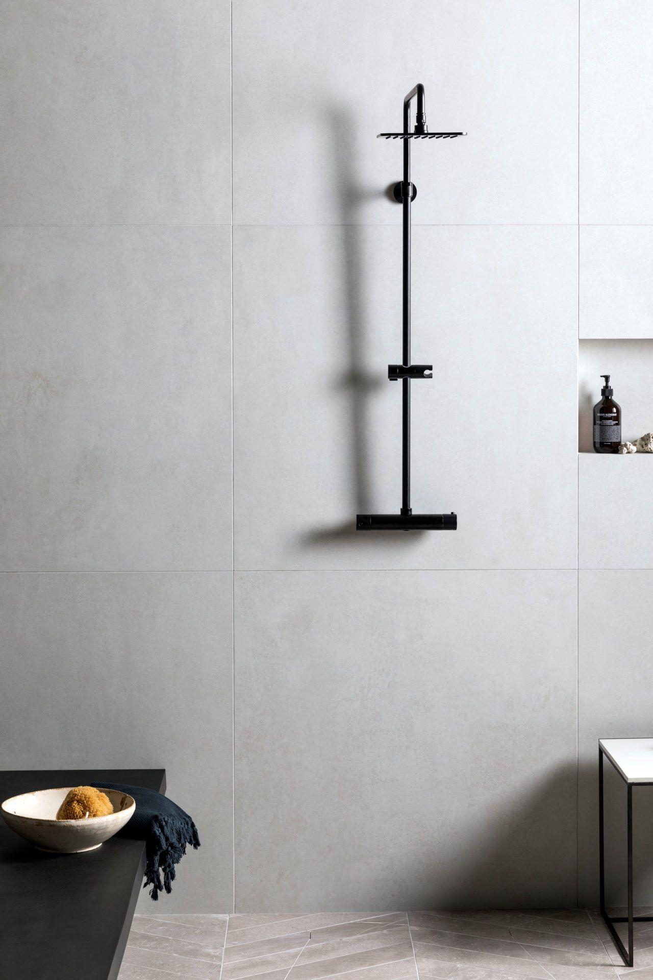 Cemento White Matt Porcelain Tiles Mandarin Stone Mandarin Stone Matt Porcelain Tiles Concrete Tiles Bathroom